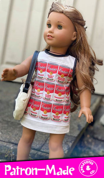 Edie Dress Sewing Pattern for 18 Inch Dolls