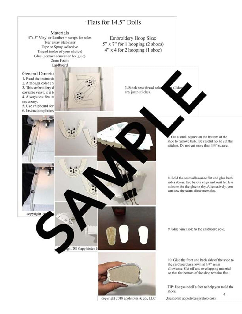 Animal Flats Collection Ith Embroidery Patterns For 145 Dolls