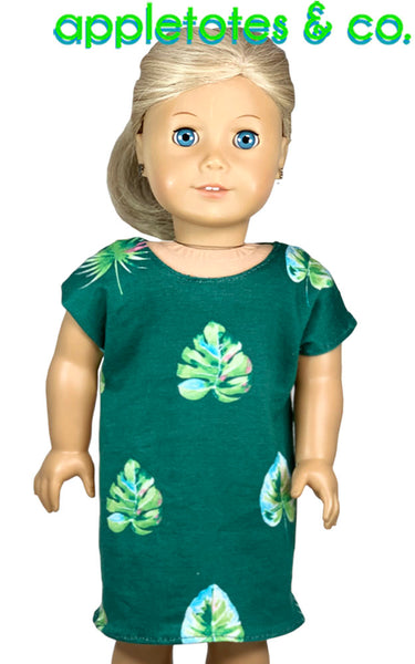 Bedtime Nightie Sewing Pattern for 18 Inch Dolls