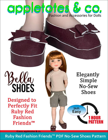 No-Sew Bella Shoes Ruby Red Fashion Friends™ Pattern