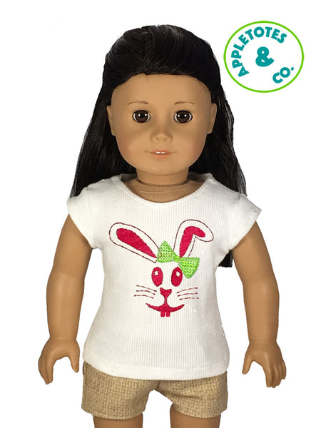 "Bunny Machine ITH Embroidery File for 18"" Dolls"