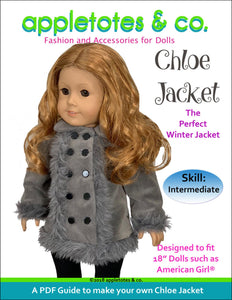 "Chloe Jacket Sewing Pattern for 18"" Dolls"