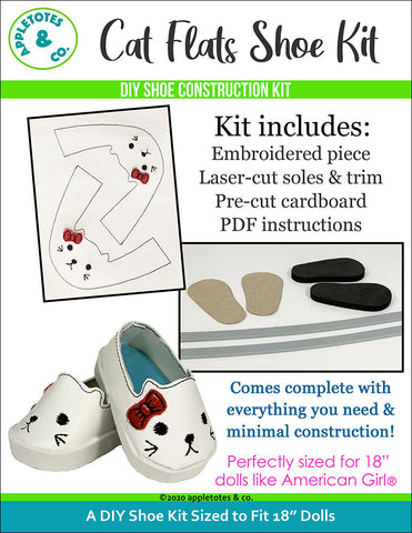 Cat Animal Flat Embroidery Kit Pack