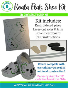 Koala Animal Flat Embroidery Kit Pack