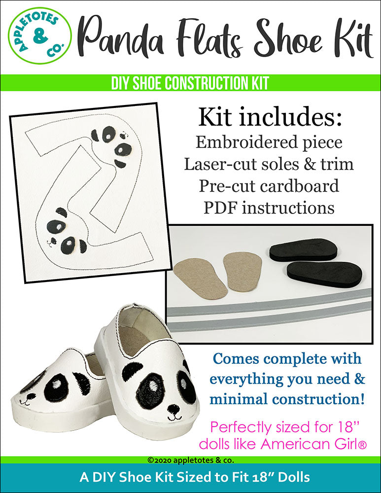 Panda Animal Flat Embroidery Kit Pack