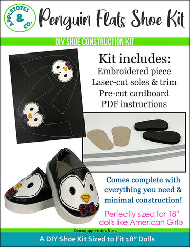 Penguin Animal Flat Embroidery Kit Pack