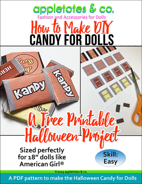 "DIY Doll Candy for 18"" Dolls - Free Printable Included"