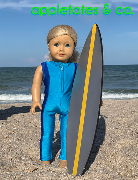 Surf Suit Sewing Pattern for 18 Inch Dolls