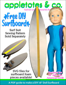 Free DIY Doll Surfboard Project for 18 Inch Dolls