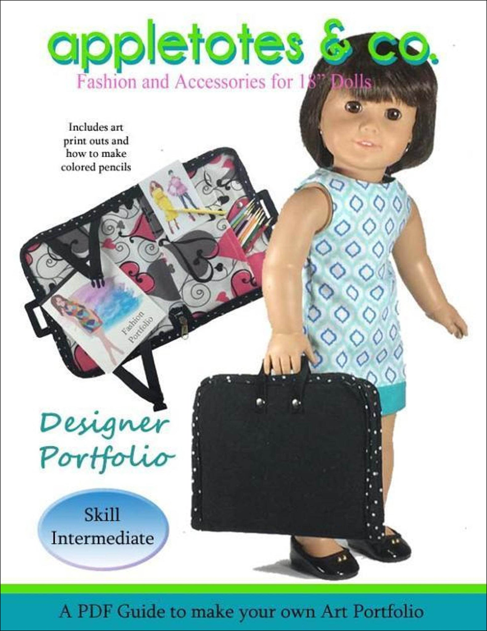 "Designer Portfolio Sewing Pattern for 18"" Dolls"