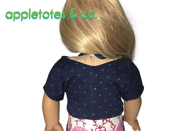 Free Easy Beach Shirt Sewing Pattern for 18 Inch Dolls