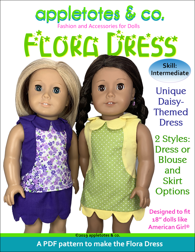 Flora Dress Sewing Pattern for 18