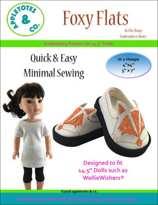 "Foxy Flats ITH Embroidery Patterns for 14.5"" Dolls"