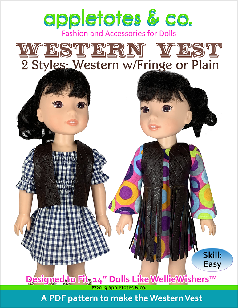 Free Western Vest Sewing Pattern for 14