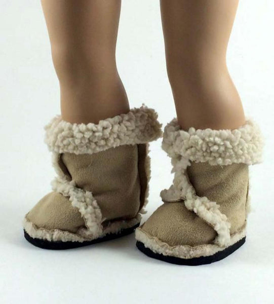 "Chloe Jacket & Furry Boots Sewing Pattern Bundle for 18"" Dolls"