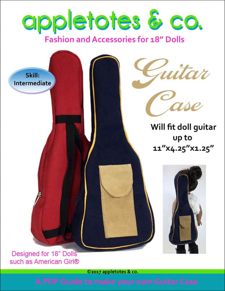 "Guitar Case Sewing Pattern for 18"" Dolls"