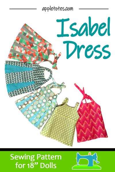 "May Special: Half Off Isabel Halter Top Dress Sewing Pattern for 18"" Dolls"