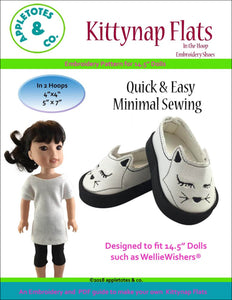 "Kittynap Flats ITH Embroidery Patterns for 14.5"" Dolls"
