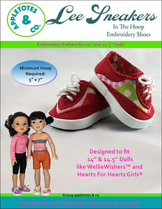 "Lee Sneakers ITH Embroidery Pattern for 14.5"" Dolls"