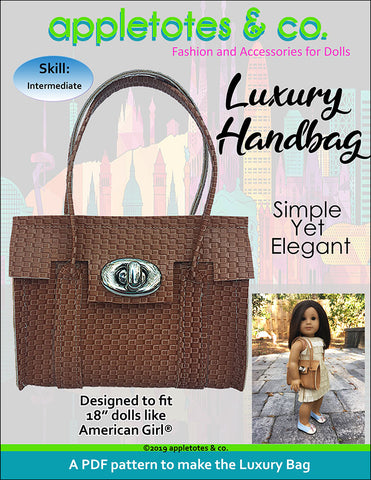 Luxury Handbag Sewing Pattern for 18 Inch Dolls