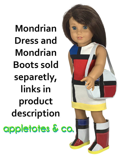 Mondrian Handbag Sewing Pattern for 18 Inch Dolls