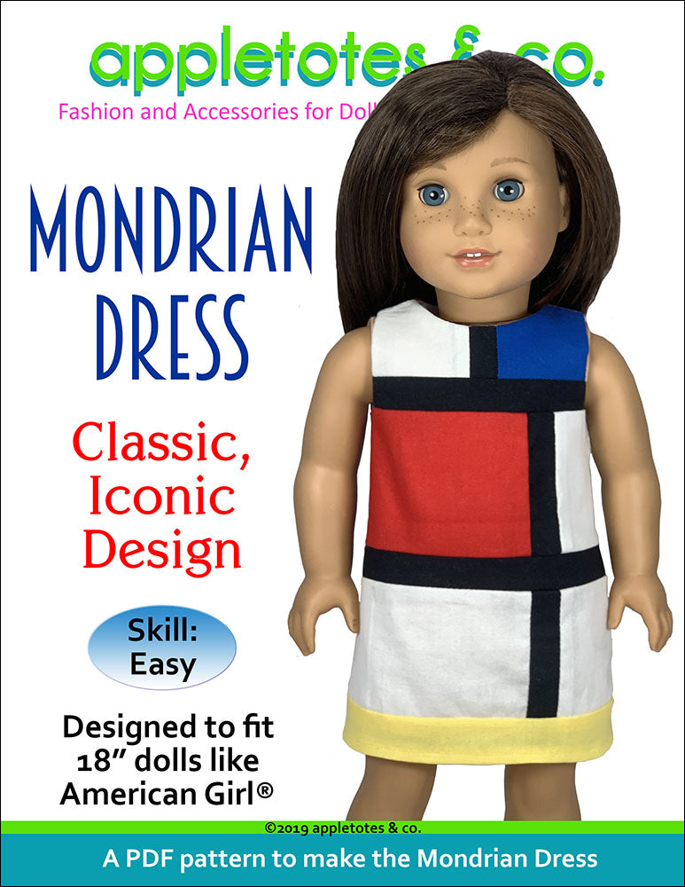 Mondrian Dress Sewing Pattern for 18