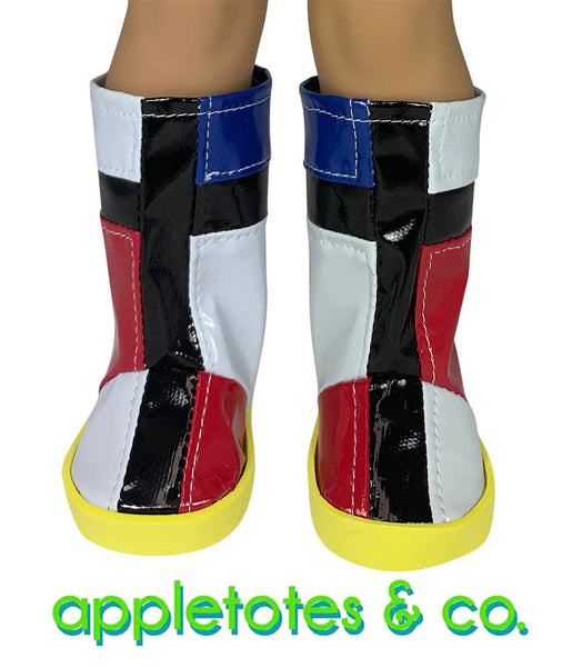 "Mondrian Boots Sewing Pattern for 18"" Dolls"