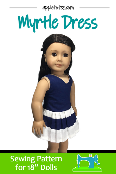 "Myrtle Dress Sewing Pattern for 18"" Dolls"