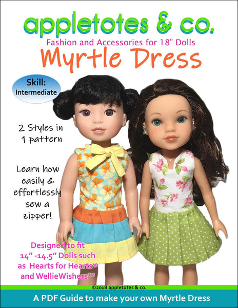 "Myrtle Dress Sewing Pattern for 14.5"" Dolls"