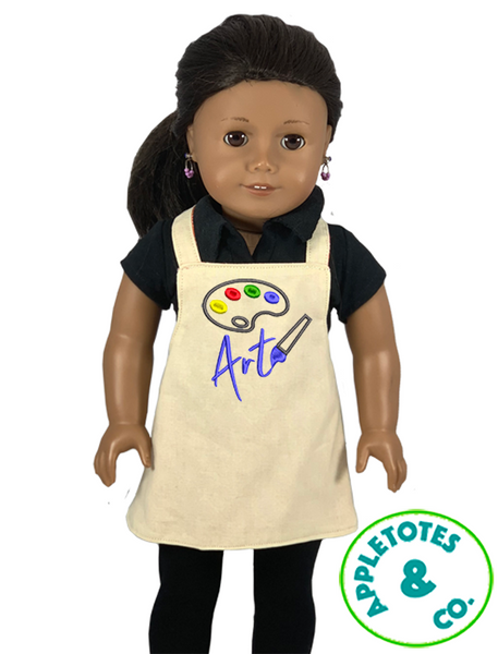"Paint Pallet Art Machine Embroidery File for 18"" Dolls"