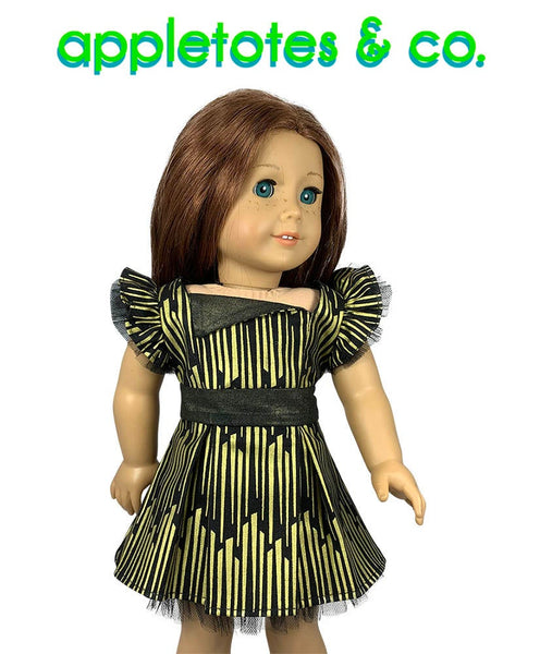 "Party Dress Sewing Pattern for 18"" Dolls"