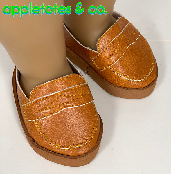Penny Loafers ITH Embroidery Patterns for 18 Inch Dolls