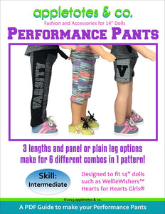 "Performance Pants Sewing Pattern for 14"" Dolls"