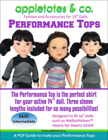 "Performance Top Sewing Pattern for 14"" Dolls"