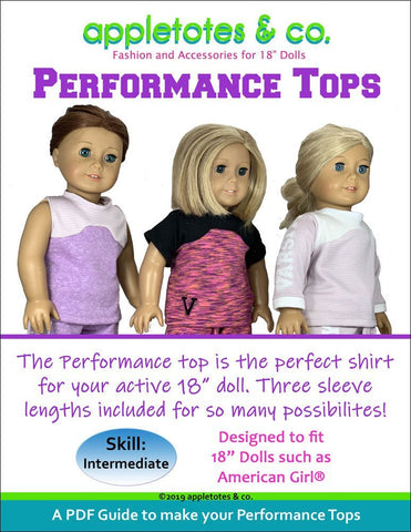"Performance Top Sewing Pattern for 18"" Dolls"