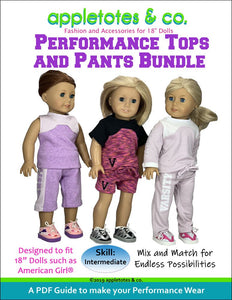 "Performance Wear Bundle Sewing Pattern for 18"" Dolls"