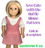 Playhouse Jumper Sewing Pattern for 18 Inch Dolls