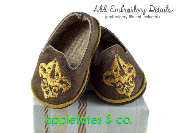 "Preppy Loafers Sewing Pattern for 18"" Dolls"