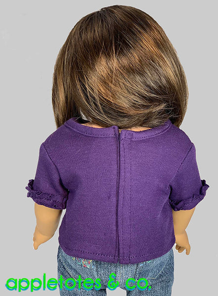 Ruffle Blouse Sewing Pattern for 18 Inch Dolls