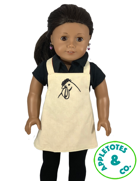 "Sleek Hen Head Machine Embroidery File for 18"" Dolls"