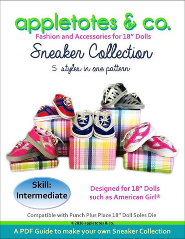 "Sneaker Collection Sewing Patterns for 18"" Dolls"