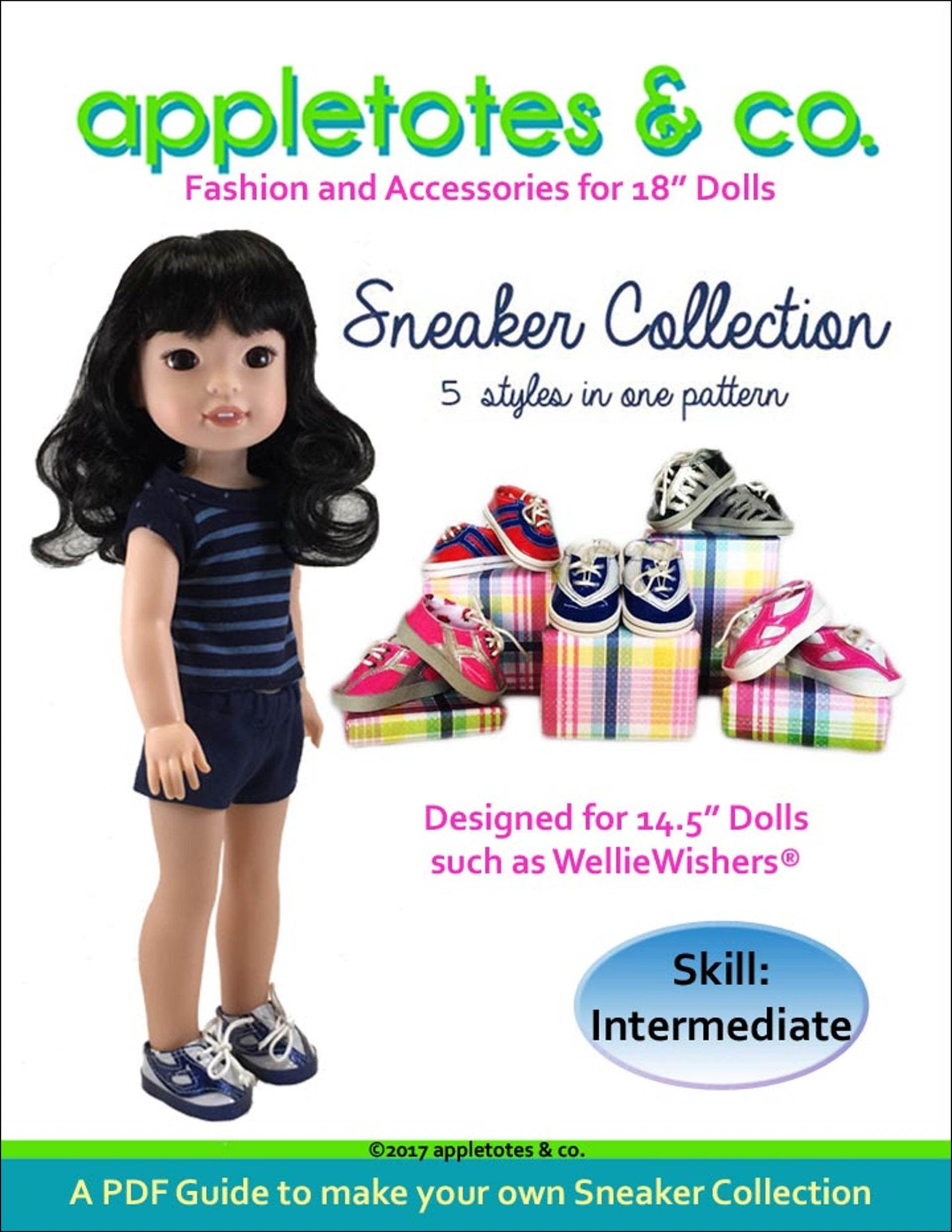 "Sneaker Collection Sewing Patterns for 14.5"" Dolls"