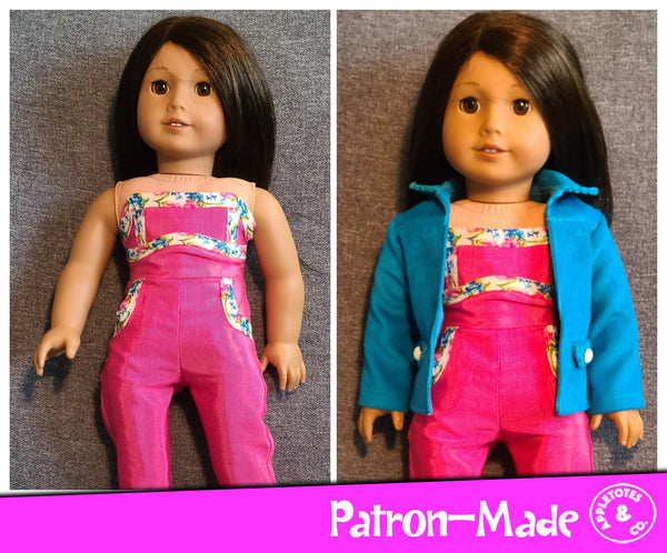 Bailey Jacket 18 Inch Doll Sewing Pattern