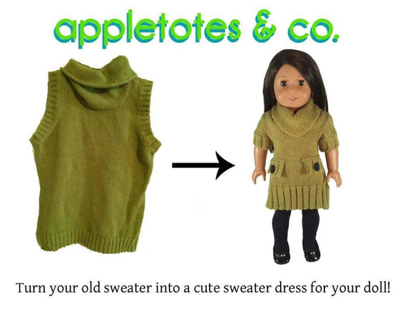 "Sweater Dress Sewing Pattern for 18"" Dolls"