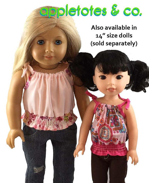 "Tribeca Blouse Sewing Pattern for 18"" Dolls"