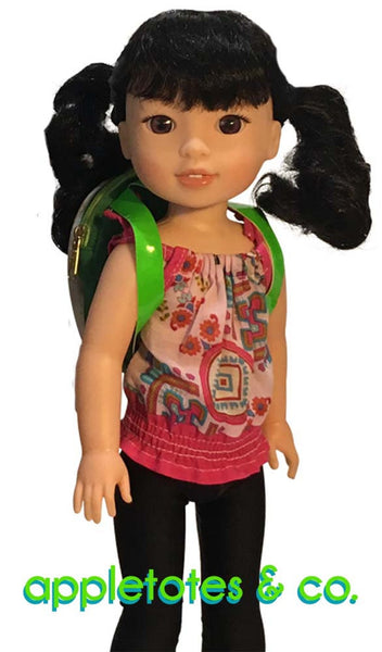 "August Special: Half Off Turtle Backpack Sewing Pattern for 14.5"" Dolls"