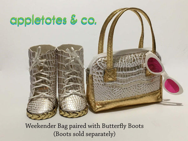"Butterfly Boots and Weekender Bag Sewing Pattern Bundle for 18"" Dolls"