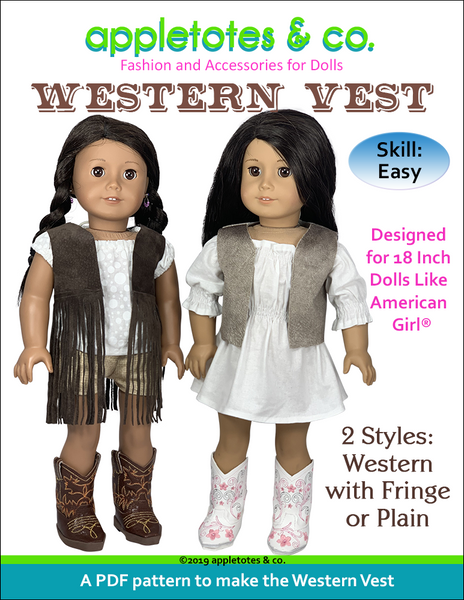Free Western Vest Sewing Pattern for 18 Inch Dolls