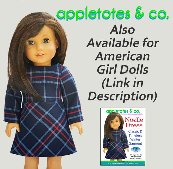 "Noelle Dress Sewing Pattern for 14"" Dolls"