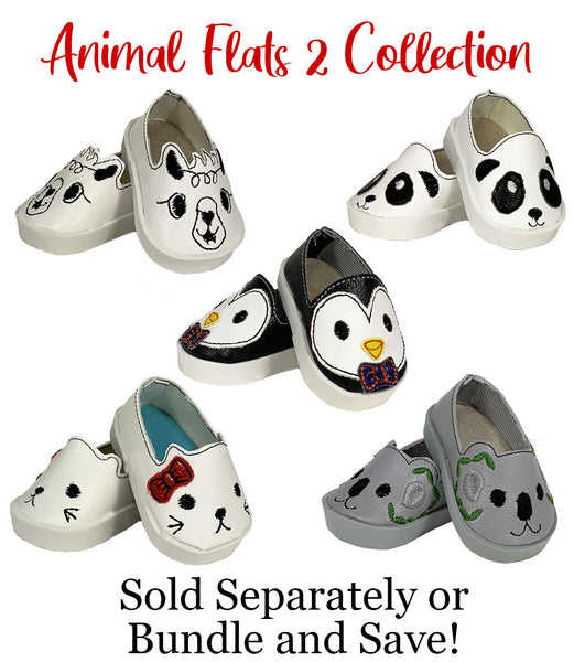Panda Flats ITH Embroidery Patterns for 14 Inch Dolls